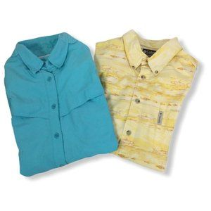 Lot 2 Mens Fishing Short Sleeve Shirts Size XL